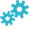 Document Flow Icon gears
